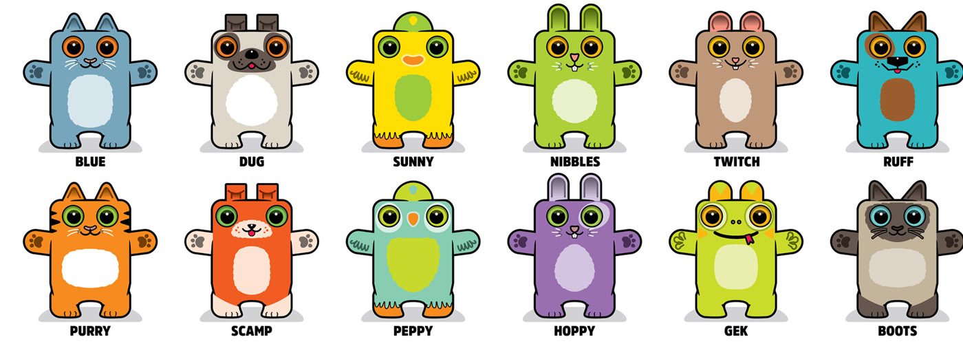 Box Buddies Pets characters