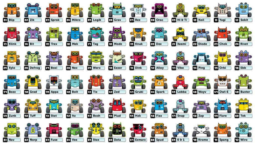 Box Buddies Bitsabots robot characters