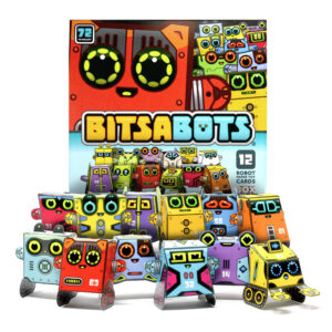 Box Buddies Bitsabots paper toy robot cards