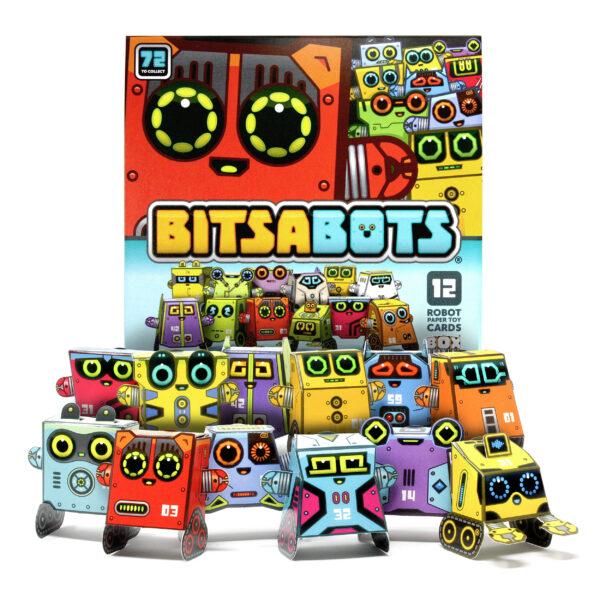 Box Buddies Bitsabots paper toy robot cards