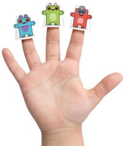 Box Buddies Boxibos finger puppets