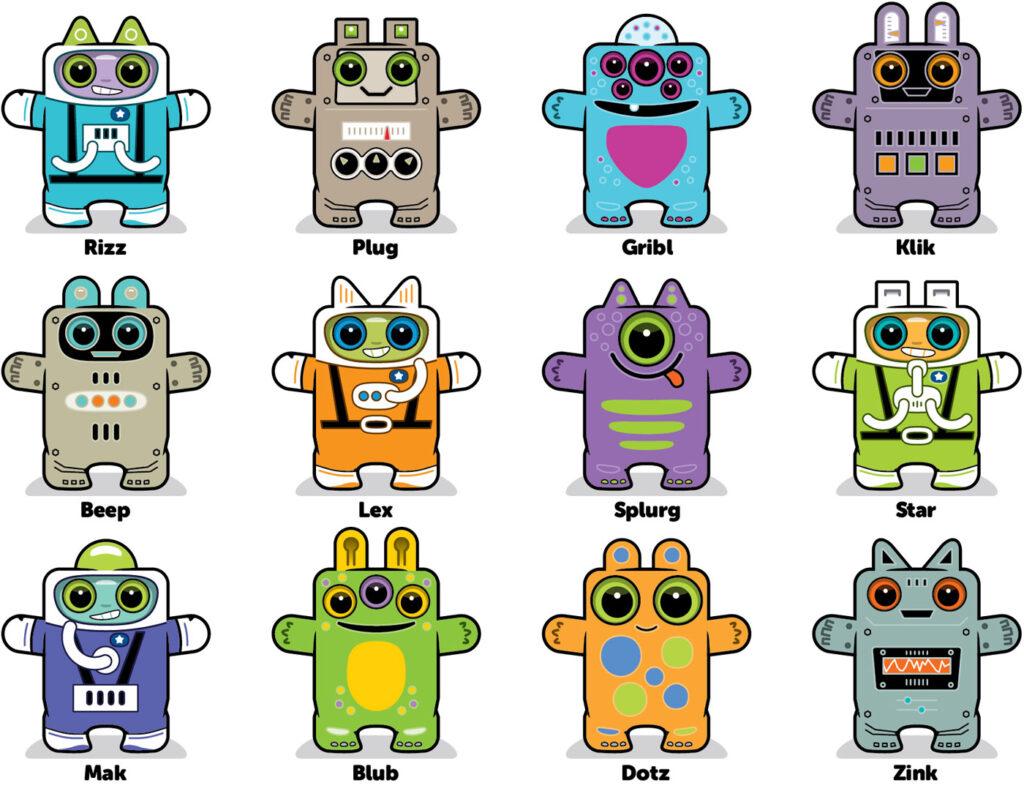 Box Buddies Boxibos characters