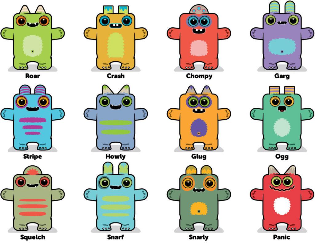 Box Buddies Boxibos Monsters characters