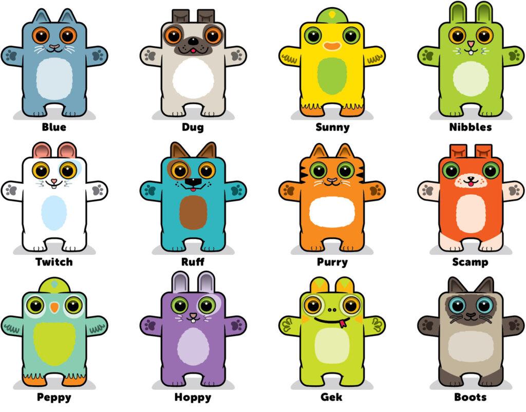 Box Buddies Boxibos Pets characters
